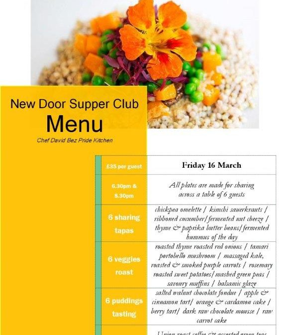 Menu announced for New Door Supper Club