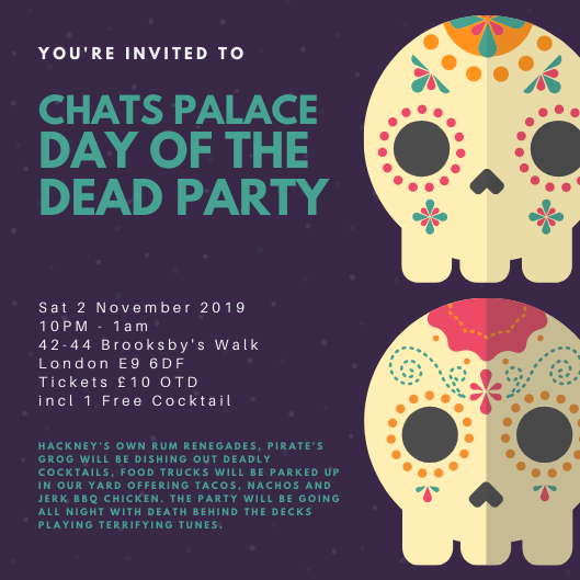 Chats Palace Day of The Dead Party
